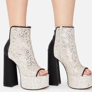 Dollskill Cacie Glitter Platform Heels